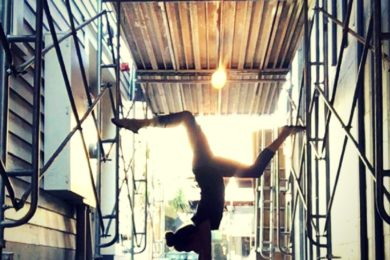 Handstand in the alley